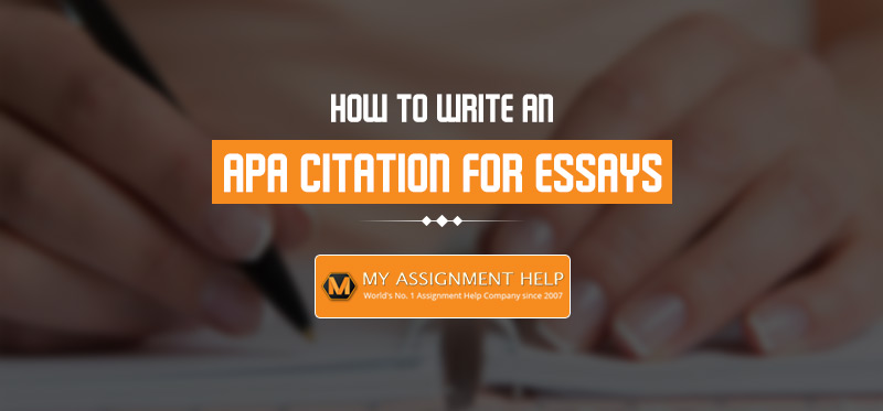 APA Citation For Essays